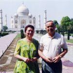 Ислам Каримов с супругой Татьяной Каримовой. Республика Индия.